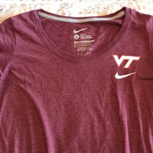 Virginia Tech Short Sleeve Nike Shirt